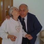 Hurrem Anneanne (grandma) giving Namik Dayi (uncle) a farewell smooch!