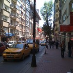 Nisantasi Commercial District in Sisli one street away from the old part of town.