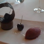 Chocolate mouse black cherry sorbet