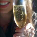 Sparkly champagne & ring